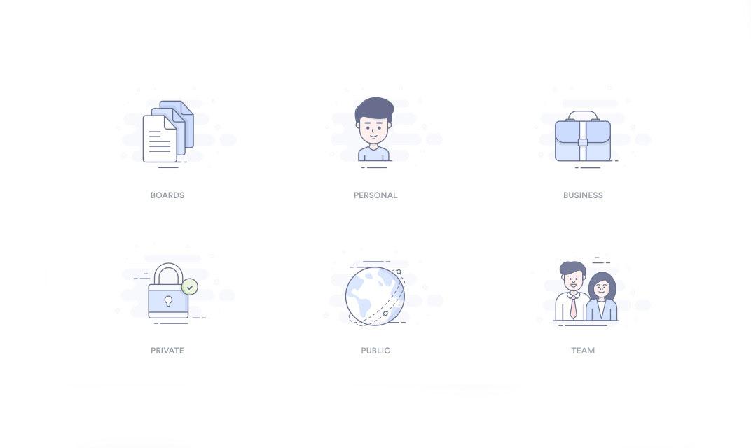 Služby a funkce se lépe rozeznávají pomocí ikon.