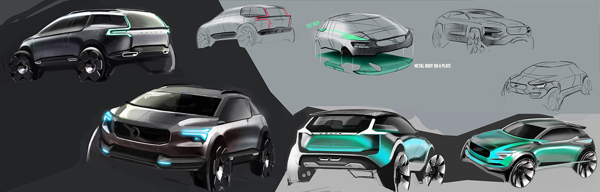 Volvo Compact Suv Sketches On Behance