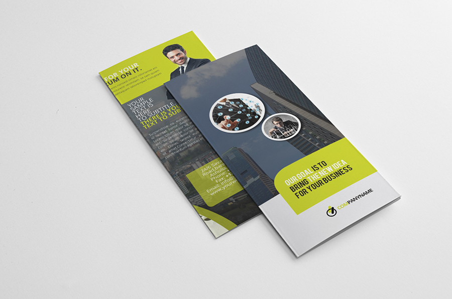 tri fold brochure indesign template on behance