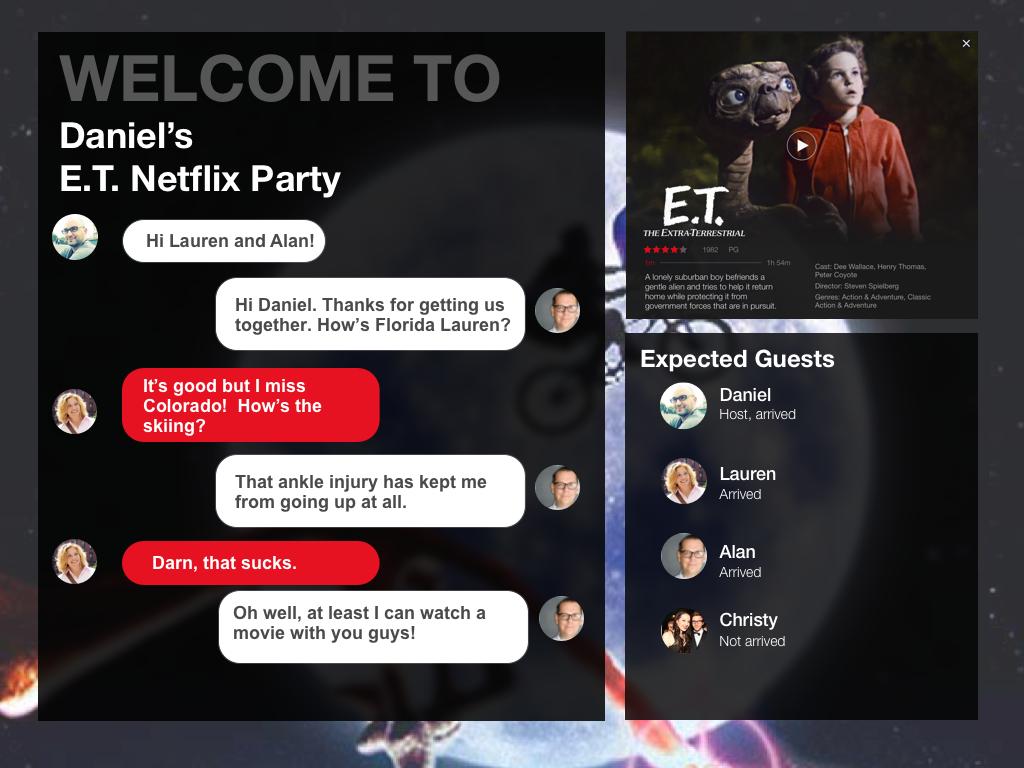Netflix Party on Behance