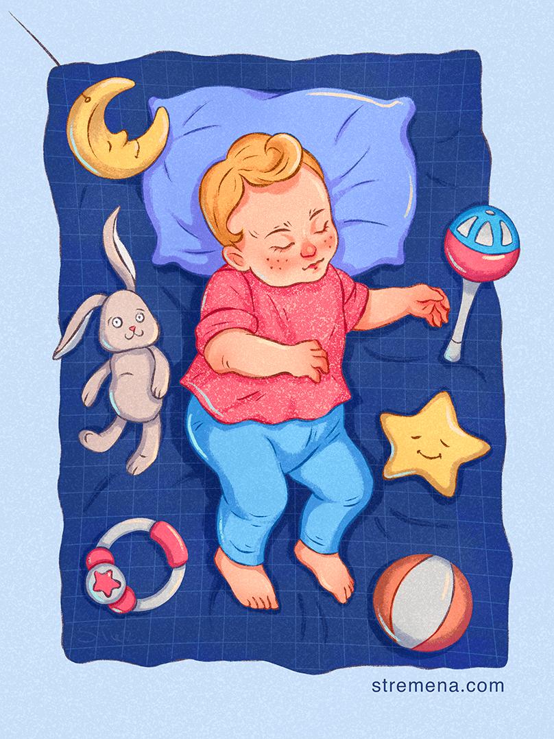 Image may contain: cartoon, baby and toddler