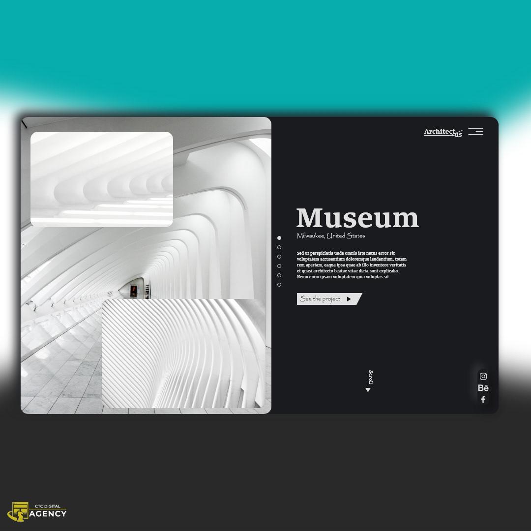 architect neumorphism UI ux Webdesign