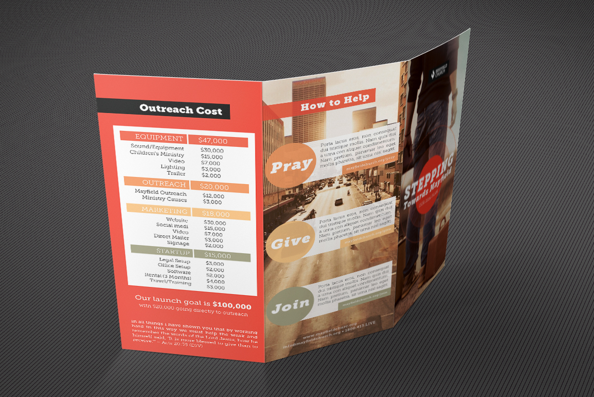 Church Missions Tri Fold Brochure Template On Behance