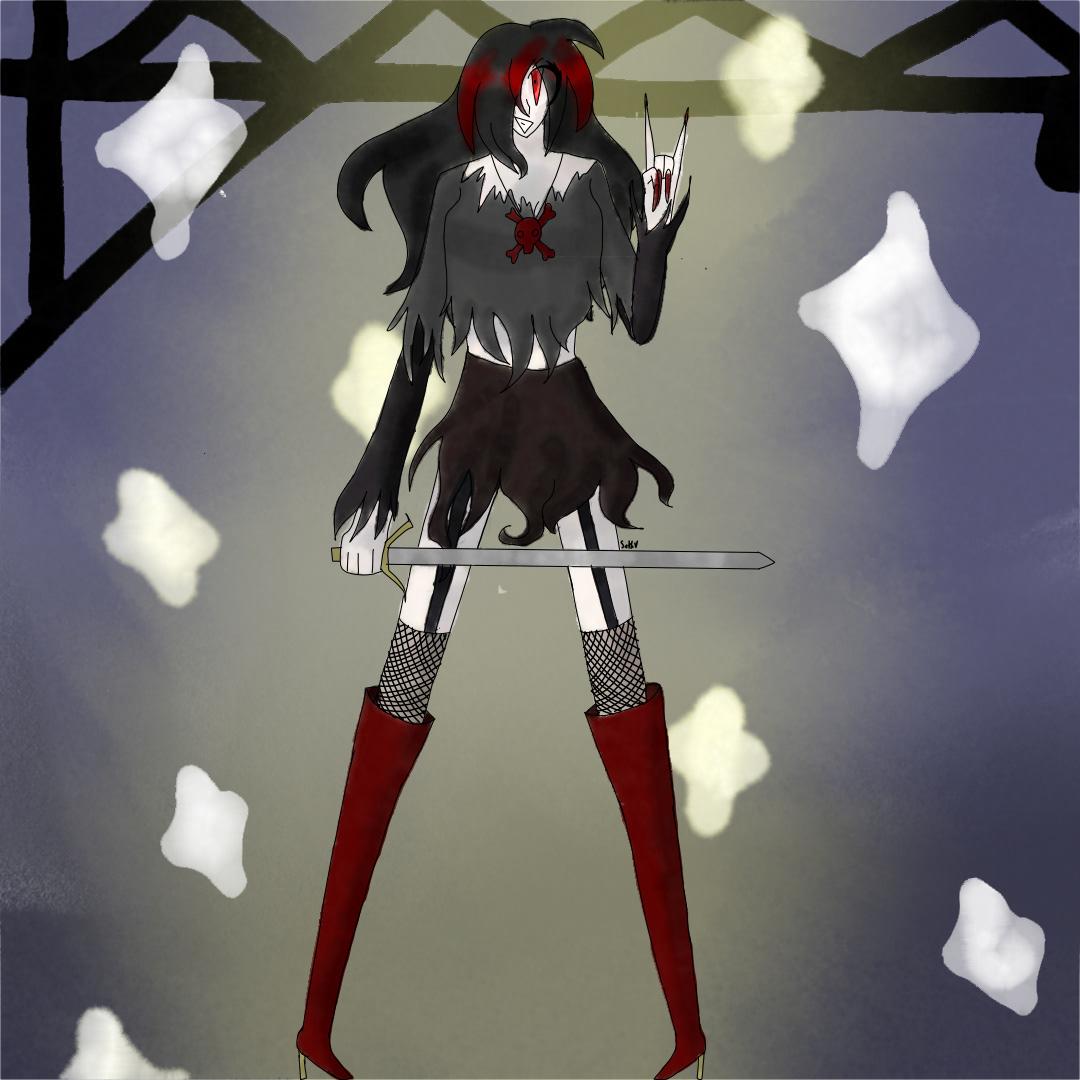 anime anime art Danganronpa Digital Art  fanganronpa rock aesthetic