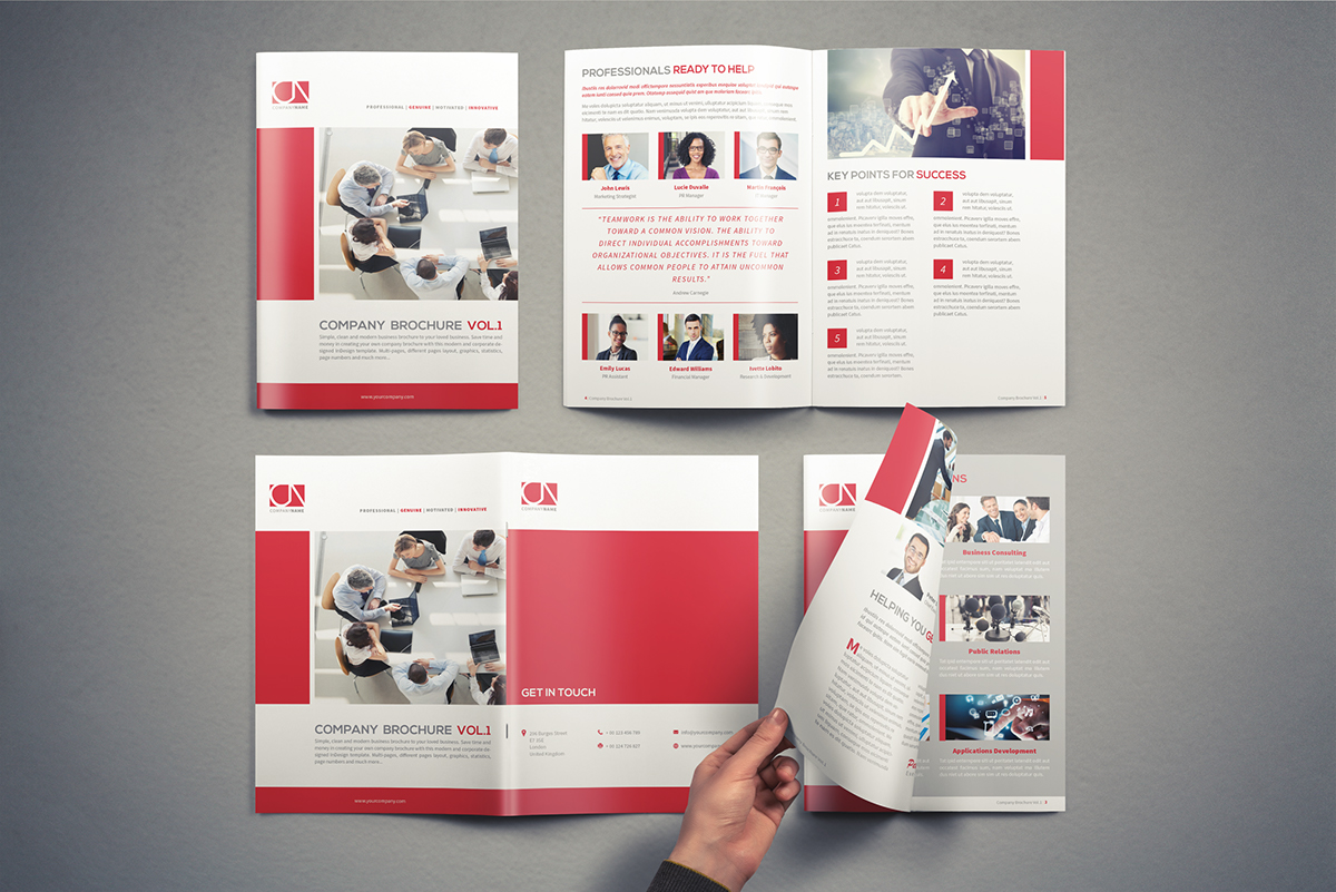Company Brochure Template Vol1 On Student Show