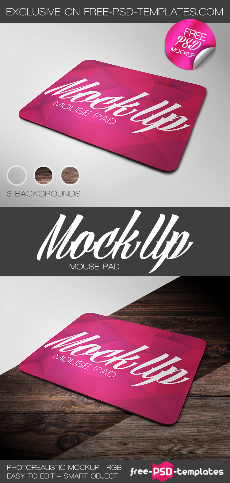 Free Mouse Pad Mock-up on Behance