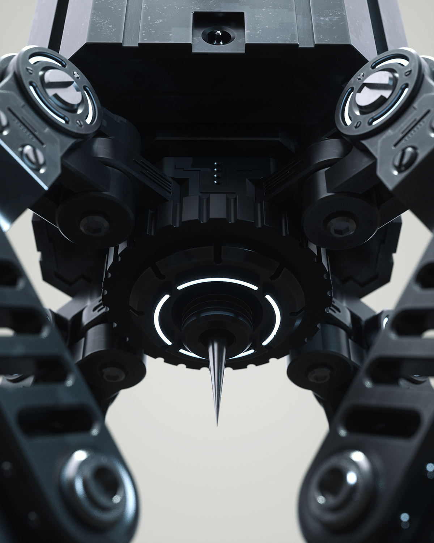 3D HardSurface mech robot concept Scifi stealth spider
