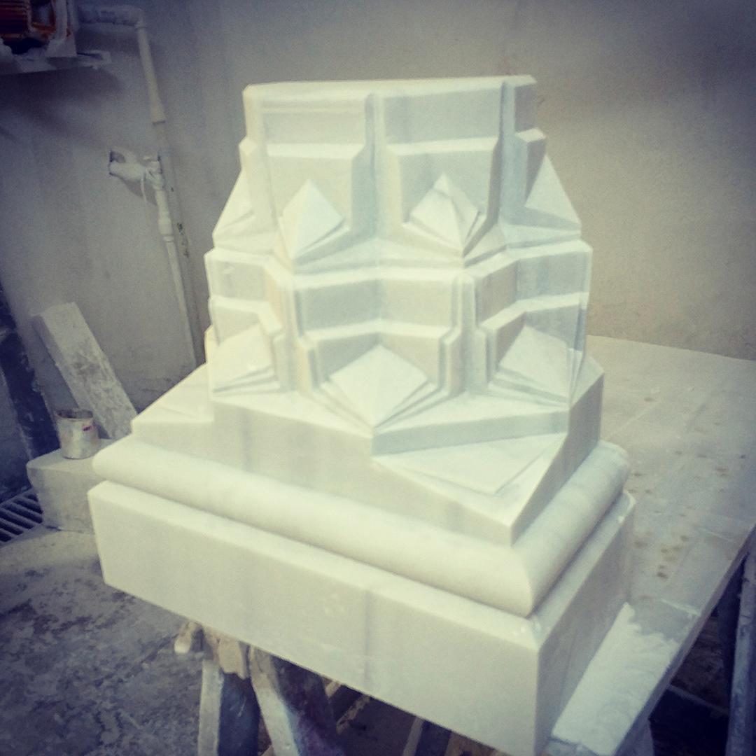 skecth karakalem ipadpro 3D Rhinoceros model Marble cnc