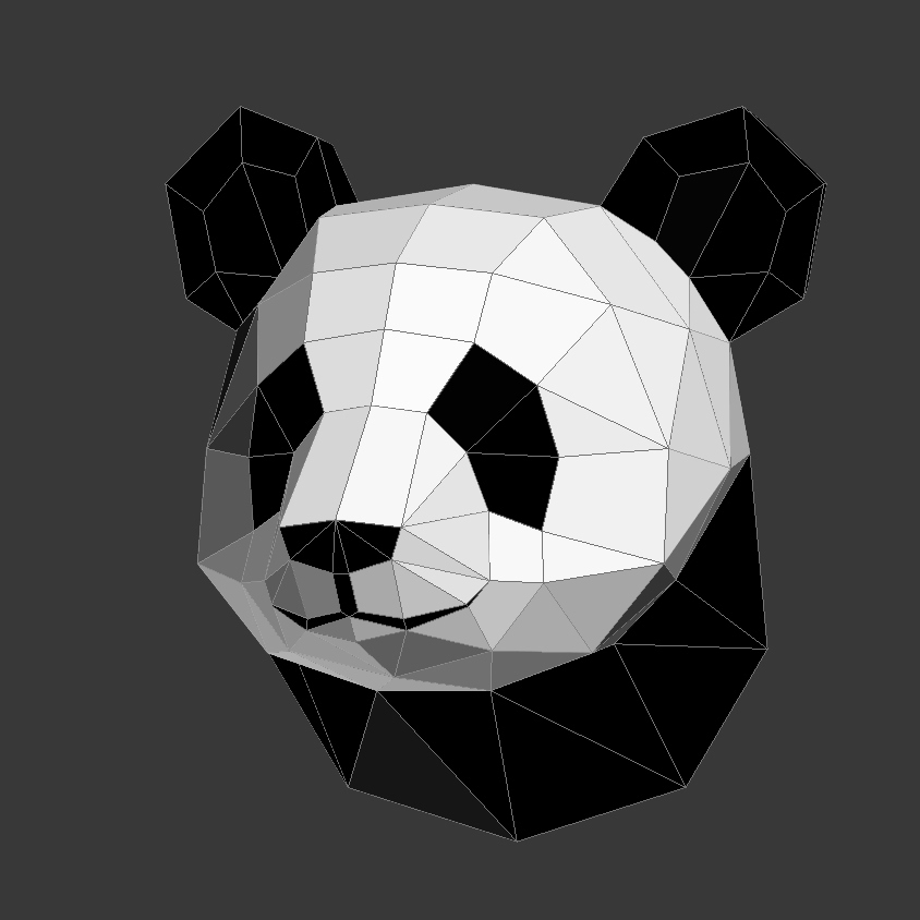 Papercraft Panda Head On Behance