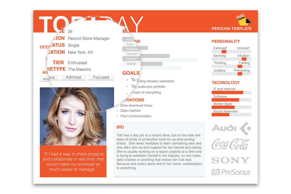 our user persona template on behance