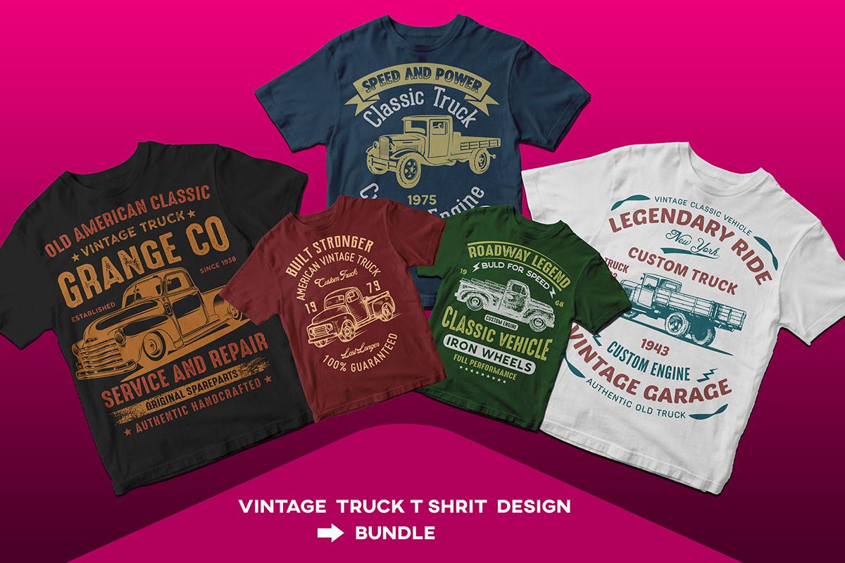 f0b672bfb1 Vintage Truck T Shirt Design Bundle on Student Show