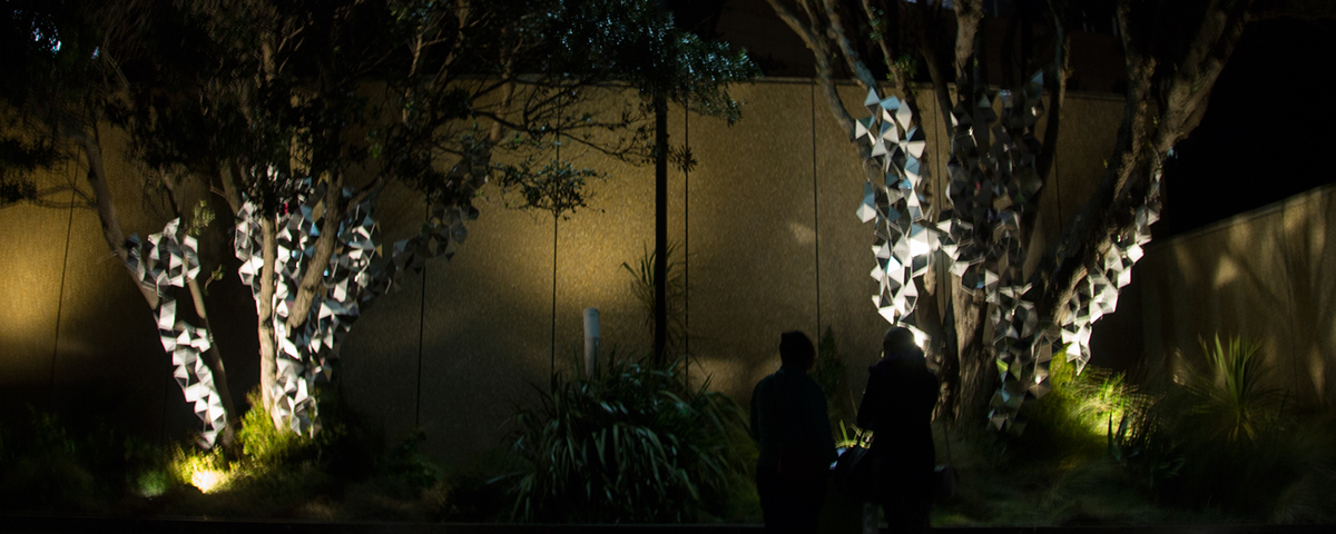 Adobe Portfolio light sculpture interactive installation shadow