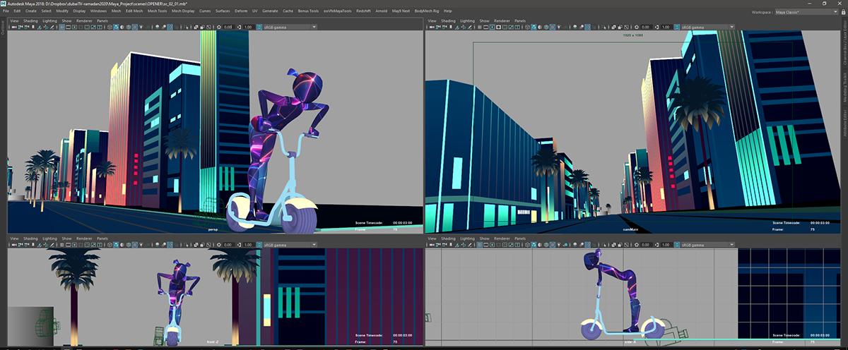 Adobe Portfolio animation  dubai game night show ramadan tv