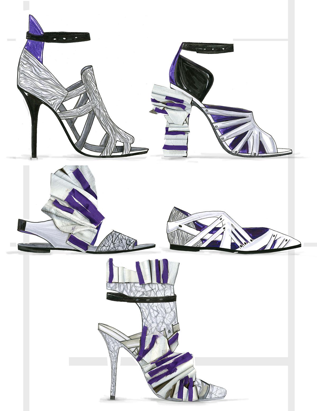 footwear S/S 2017 accessory design heels Sandals ballerina Mushrooms mondrian