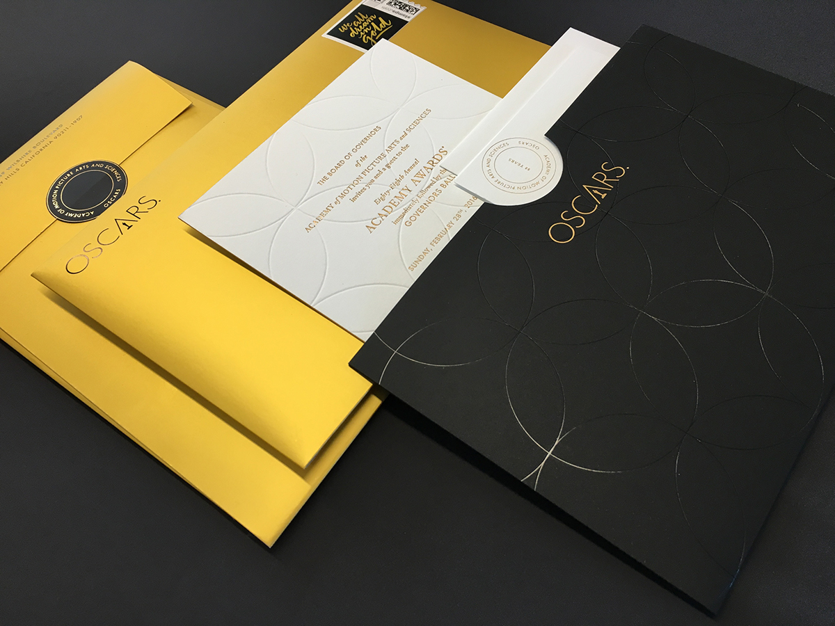 88 oscars invitations on behance
