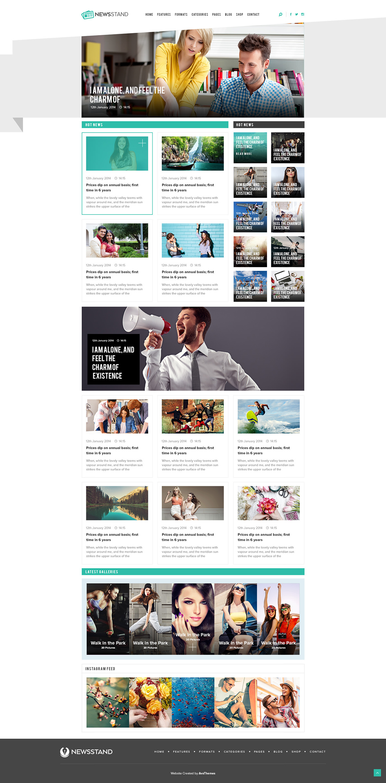 NewsStand - Magazine/Blog/Shop WordPress Theme