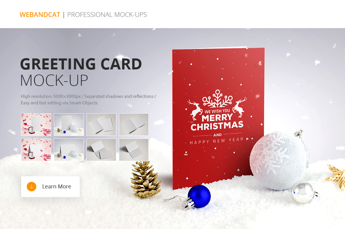 Invitation / Greeting Card Mock Up On Behance