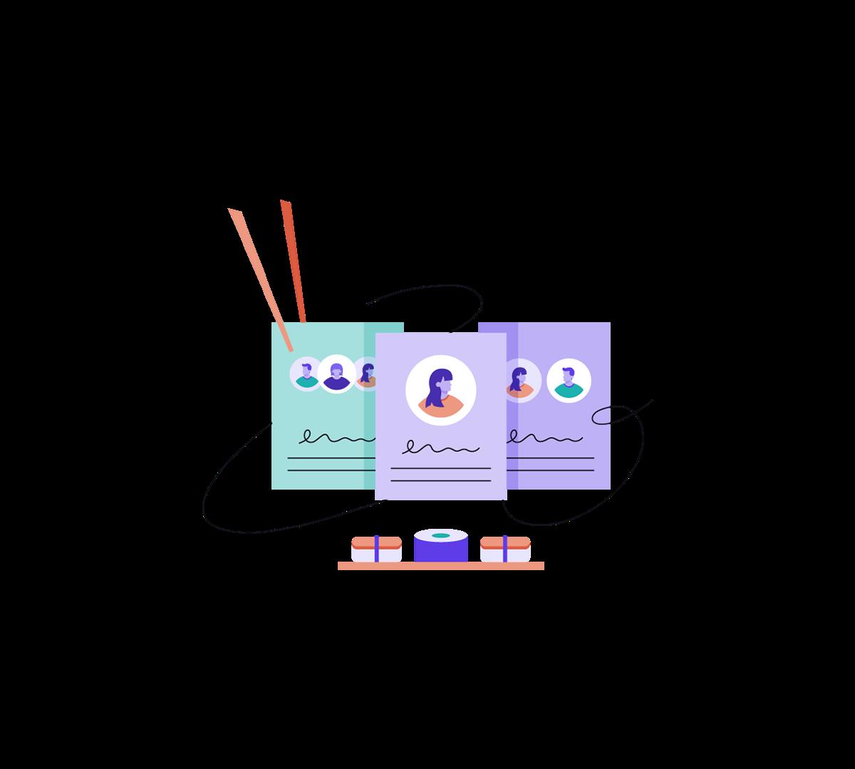 product illustrations marketing illustrations ILLUSTRATION  page builder Spot Illustrations banner illustration