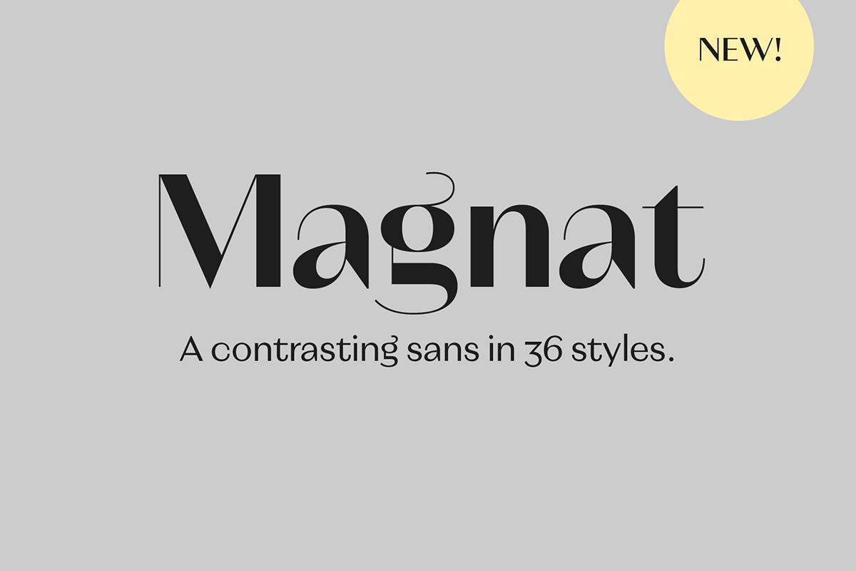 Magnat / Font Family on Behance
