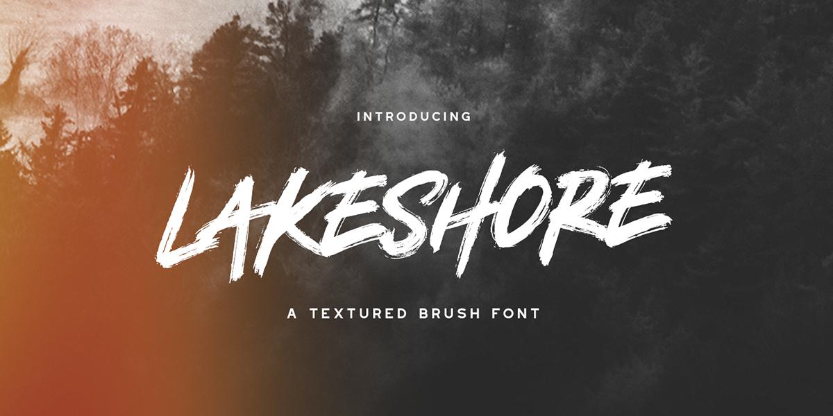 Lakeshore Typeface + Free Font on Behance
