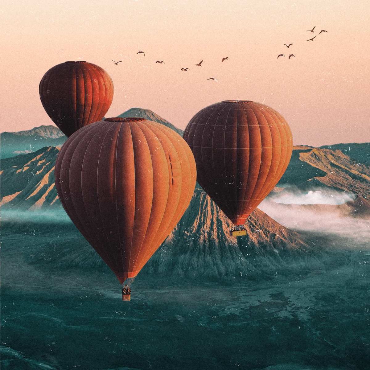 Image may contain: aircraft, balloon and transport