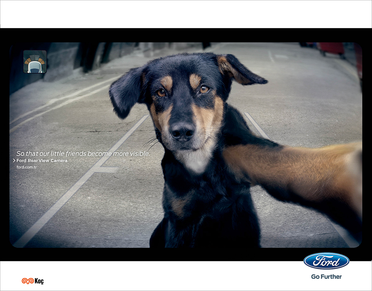 Ford Rear View Camera Print Ads on Behance