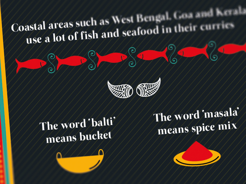 infographic information design Data Charts statistics India icons Colourful  border curry Food  illustrations infograph
