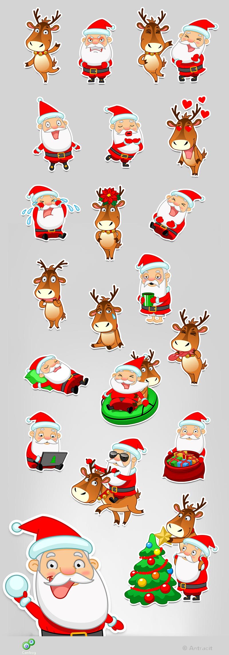 snowman reindeer santa claus penguin new year Christmas Coffee Sadness emotions joy fear christmas Tree sleigh