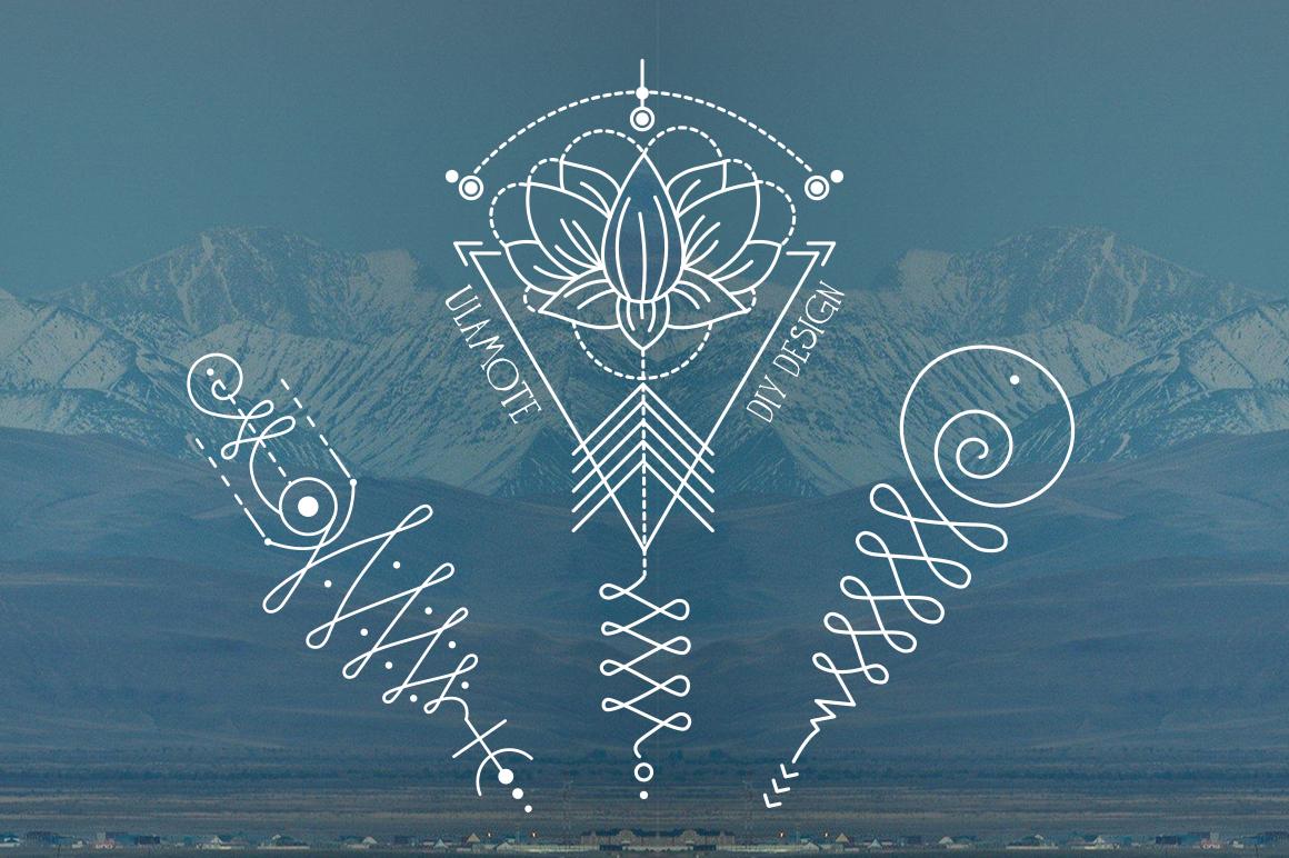 Unalome lotus sacred symbols on behance buycottarizona Choice Image
