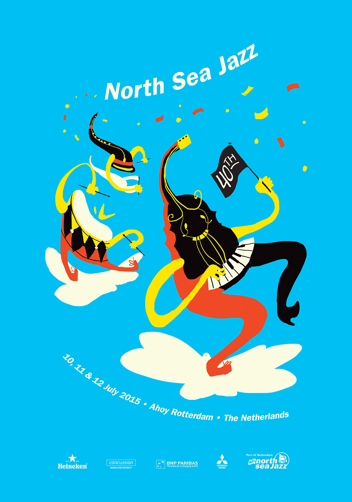 Character Design Competition 2015 : Northseajazz festival poster competition second prize on behance
