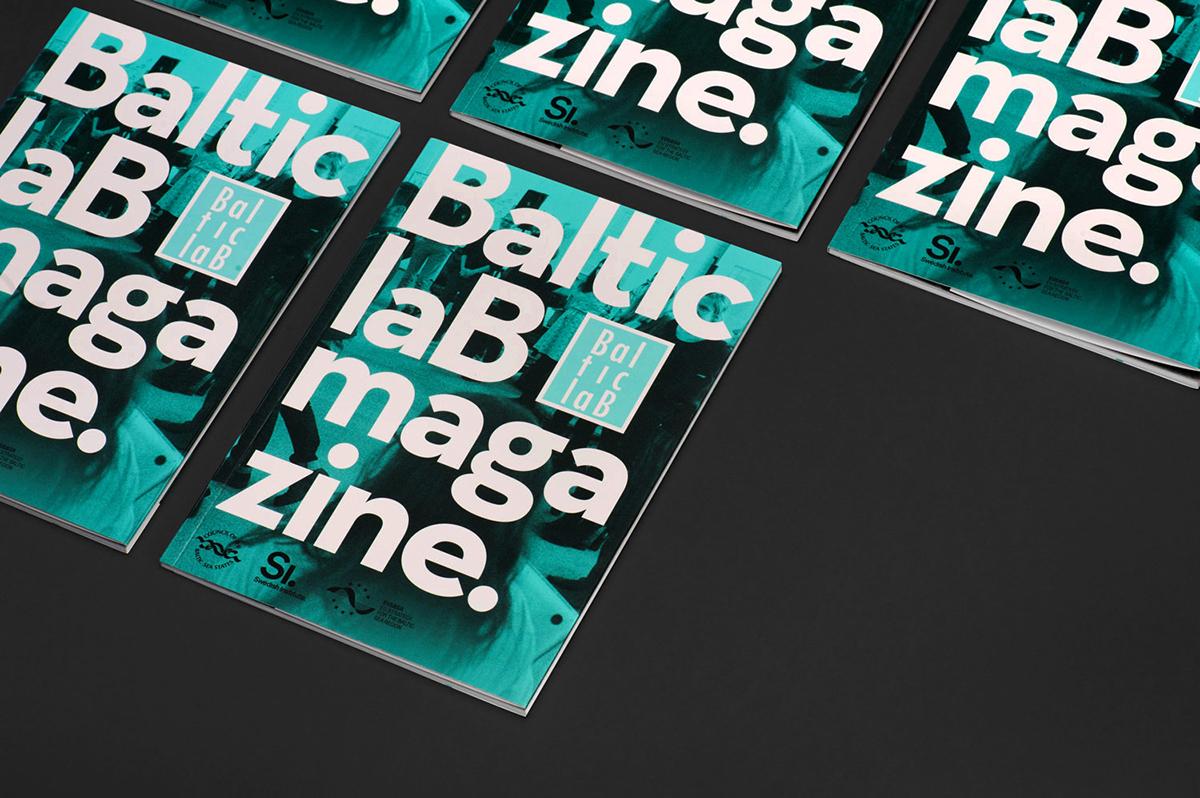 Baltic lab online report print Sweden sea corporate identity magazine grey green institute Workshop Web