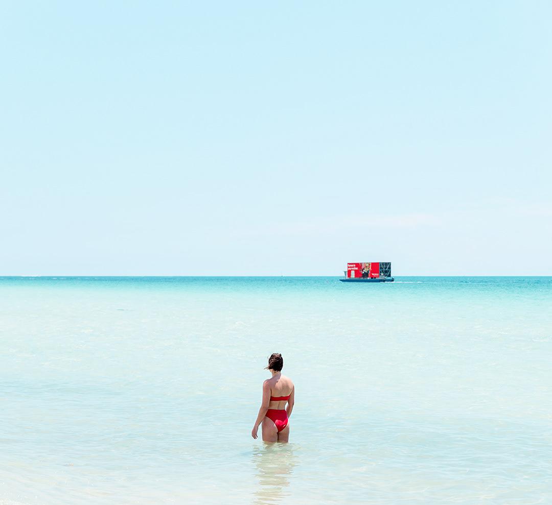 beach bikini florida miami minimal Ocean sand south Sun woman