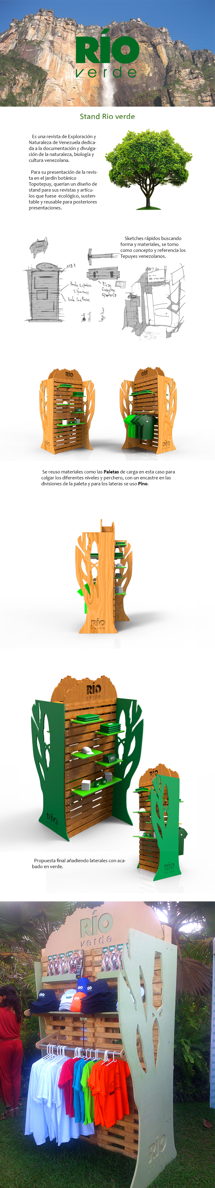 Stand Display pop desing diseño proyecto proyect publicidad revista magazine green Verde Tree  arbol venezuela