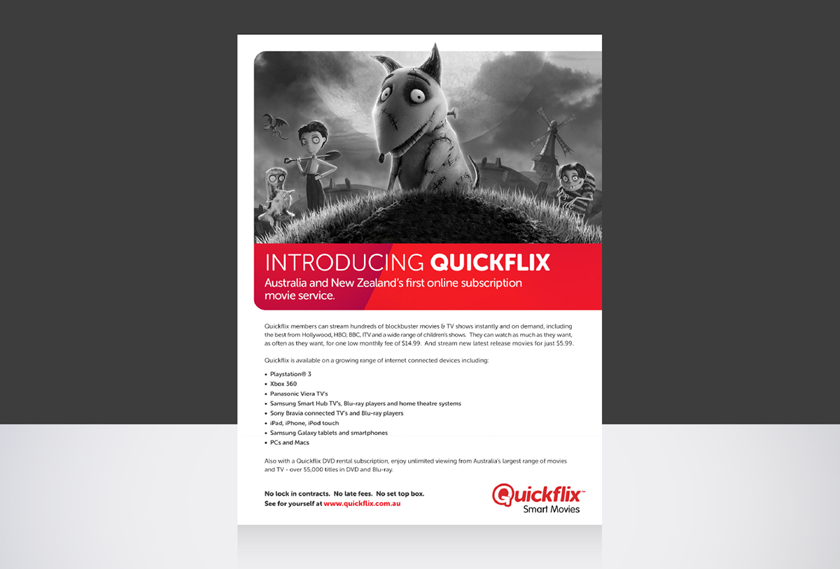 Quickflix on Behance
