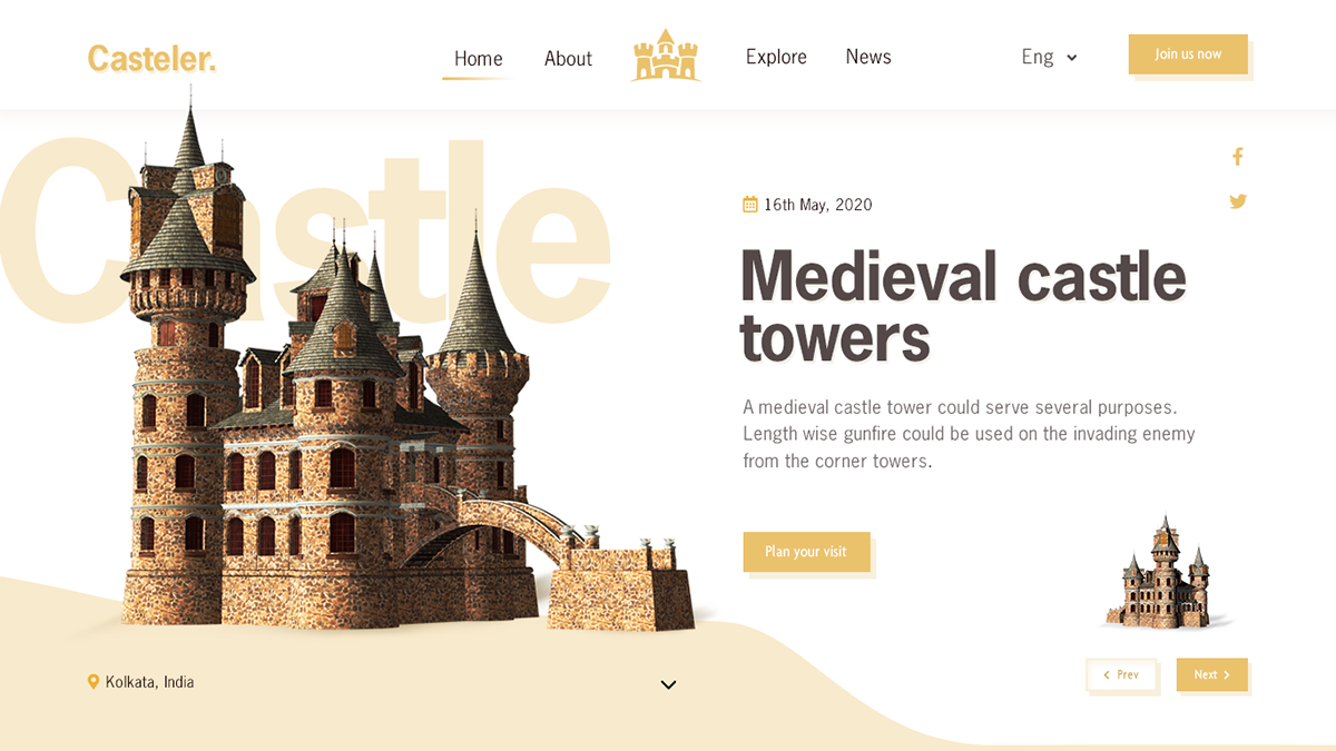 Castle design designer Logo Designs minimal design temple designs trendy design ui designs UX Designs web designs