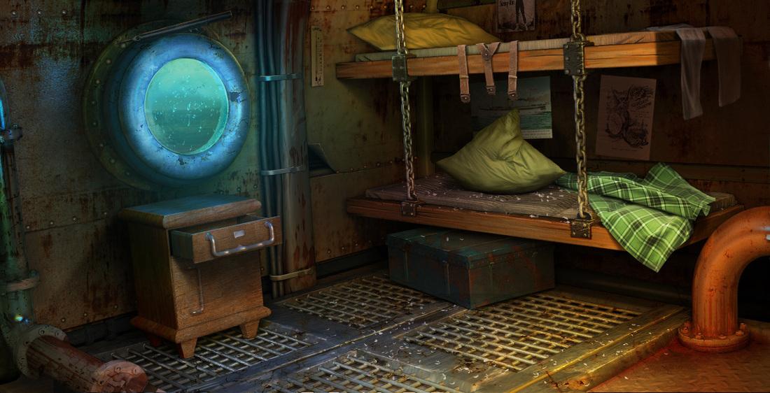 steampunk submarine u 144 on behance. Black Bedroom Furniture Sets. Home Design Ideas