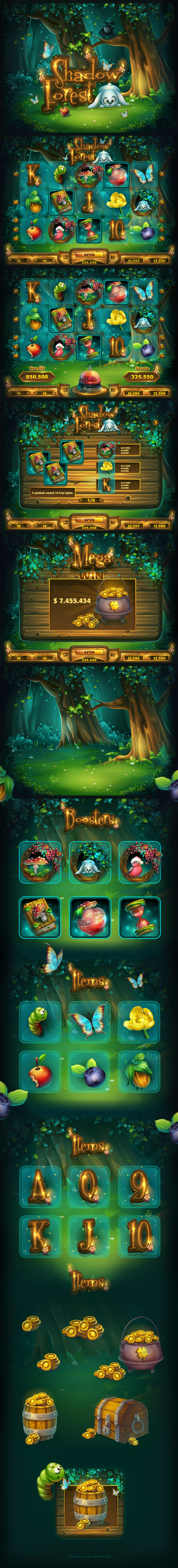 Shadow Forest - GUI Pack on Behance
