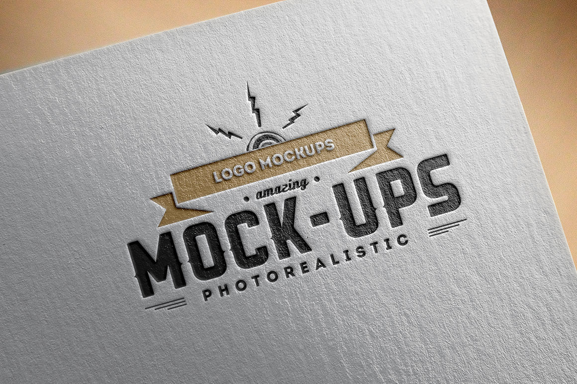 free logo mock up presentation on behance