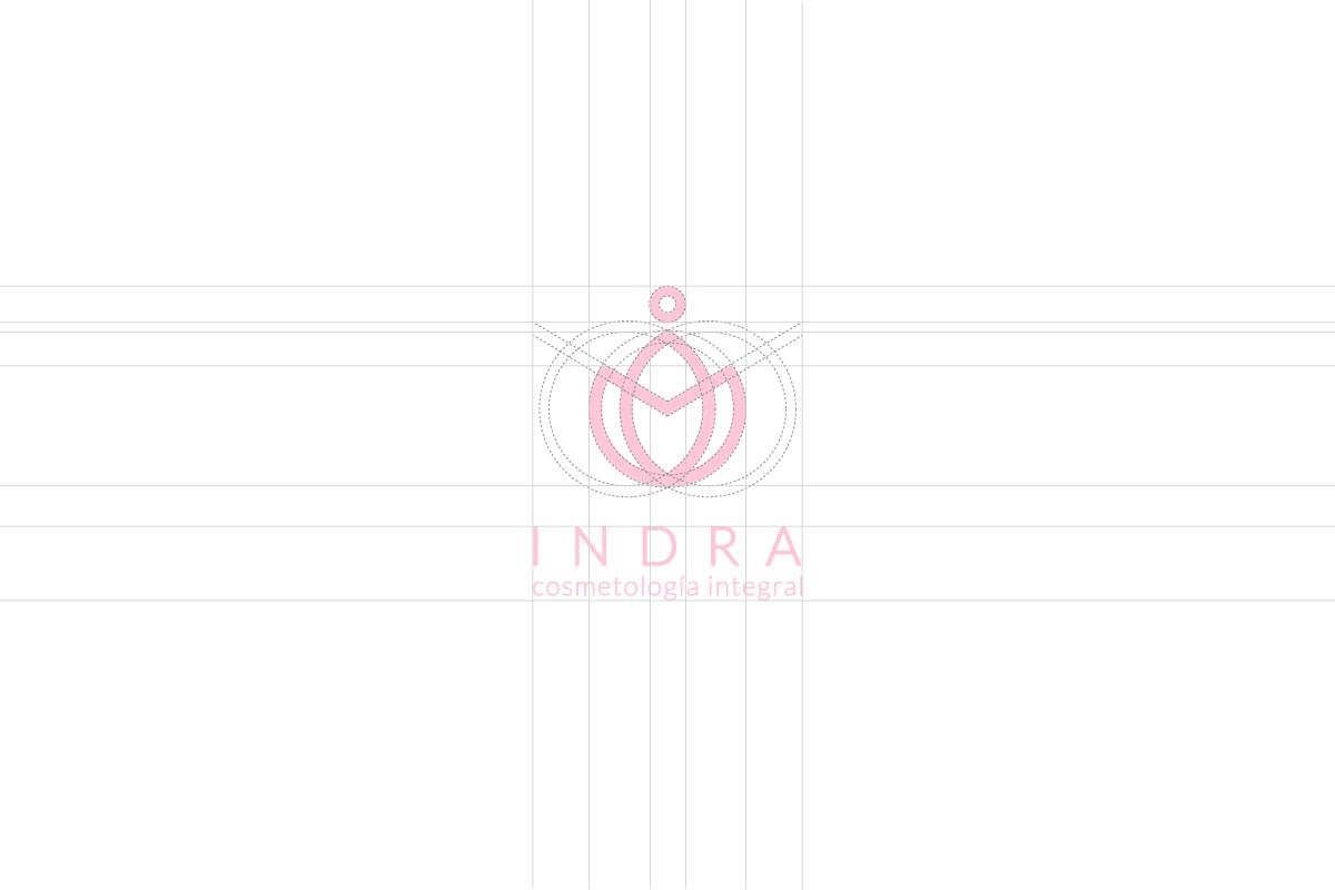 cosmetologia logo Logotipo branding  facebook diseño makeup Spa masaje indra