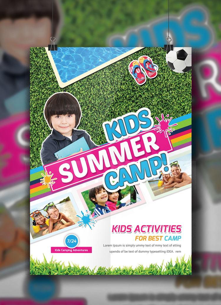 summer camp brochure template free download - kids summer camp flyer template on behance