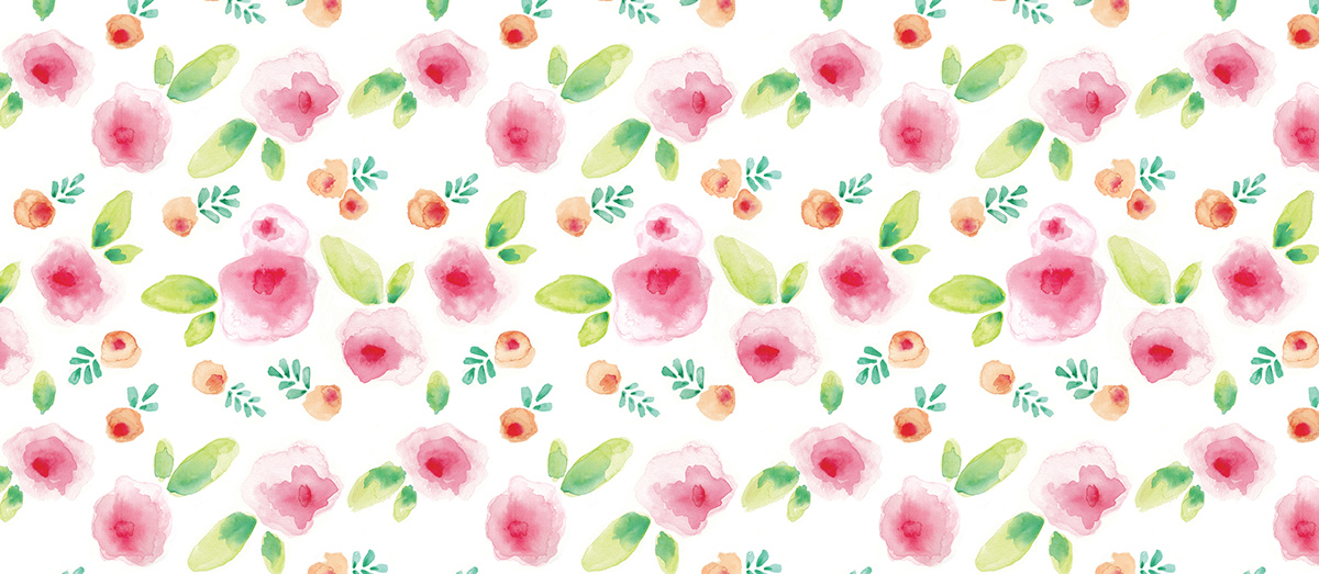 watercolor floral spring Surface Pattern