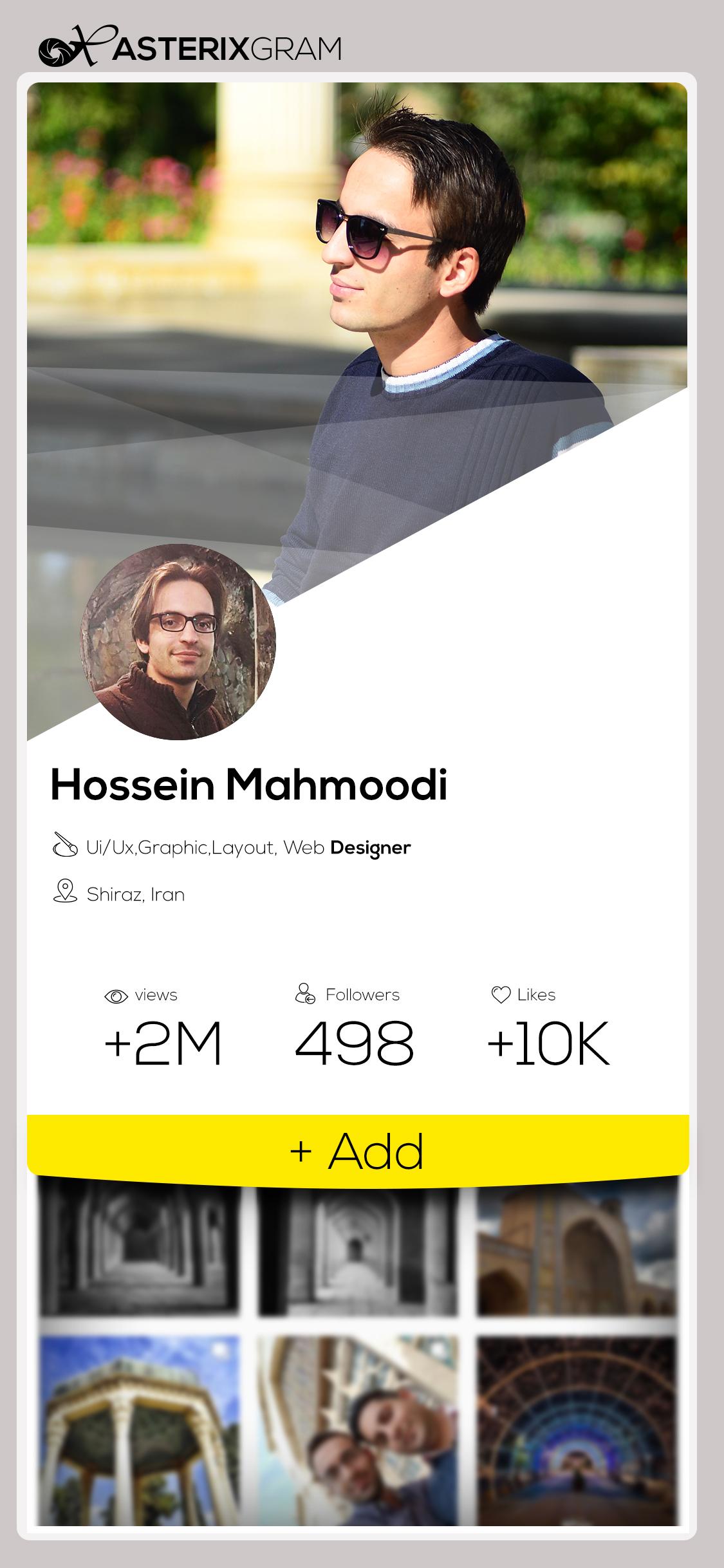 نمونه کار: طراحی رابط کاربری صفحه Profile