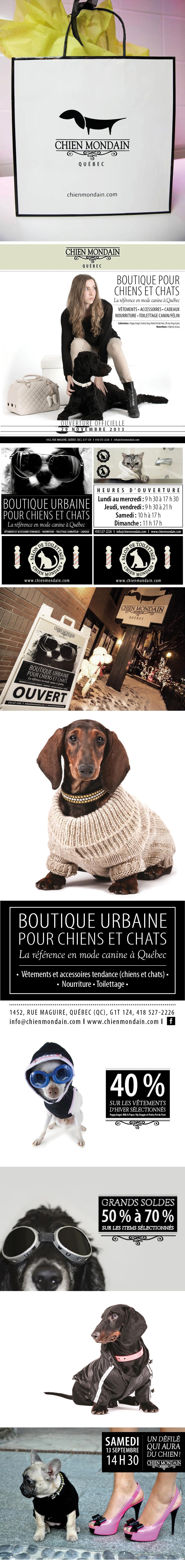 boutique dog chien Quebec mondain   Pet animal