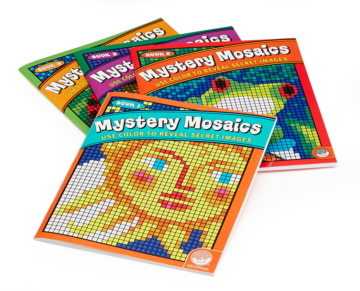 Mystery Mosaics Coloring Book - Book 1. www.mindware.com ... | 969x1200