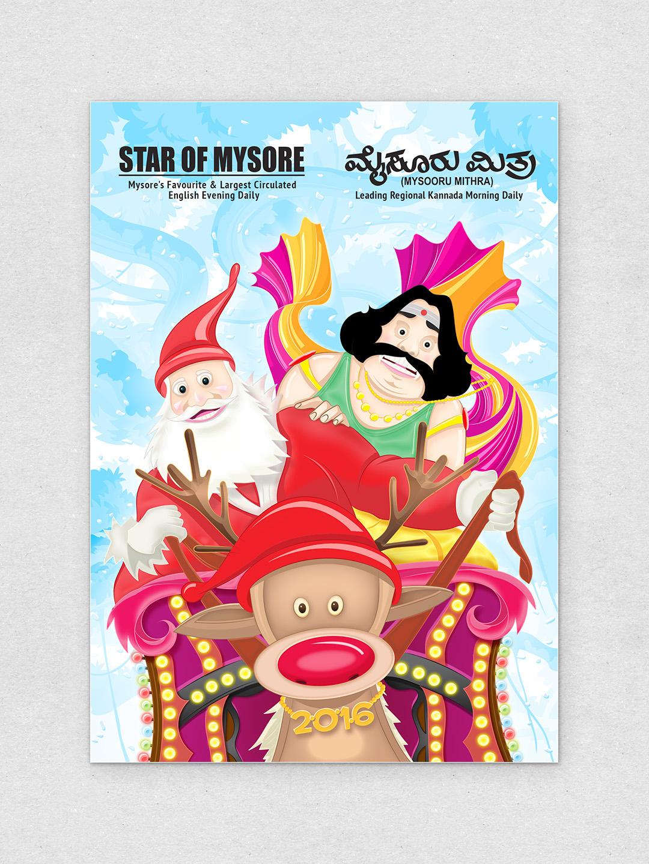 new year greeting mysore Santa Claus