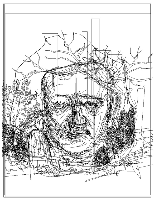 Image may contain: sketch, drawing and linedrawing
