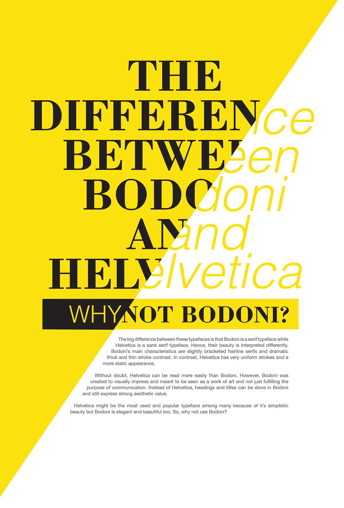 Bodoni Tribute on Behance