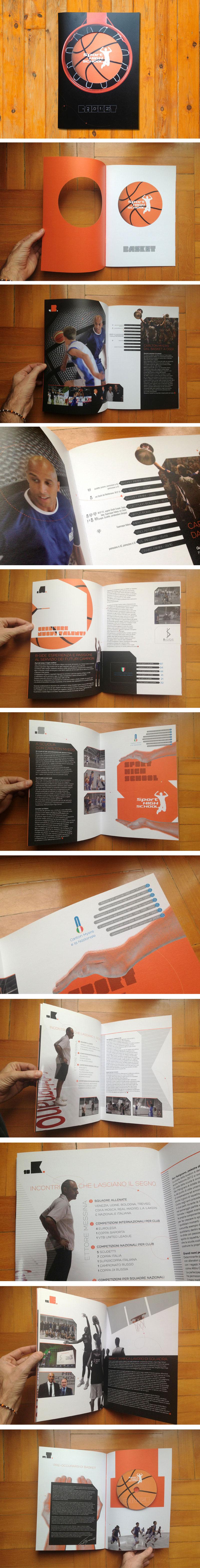 brochure design brochure company profile sport basket infographics presentation die cut