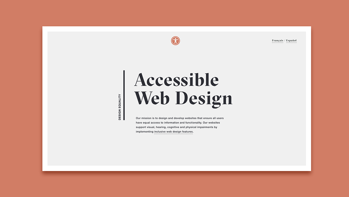 Website Web Design  webpage typography   Layout landing simple minimal Accessibility