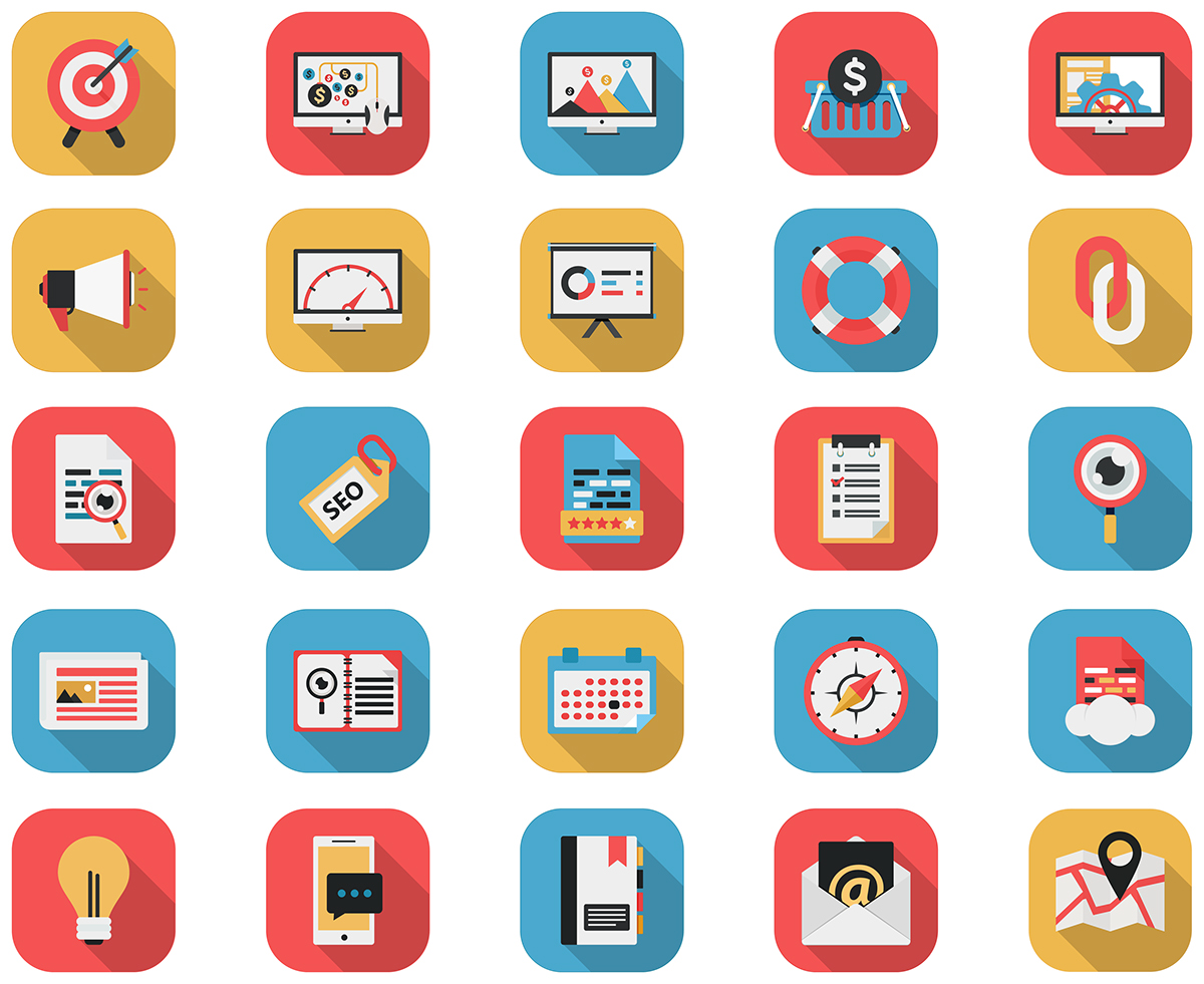 Flat Icons - SEO Icons & Web Icons -